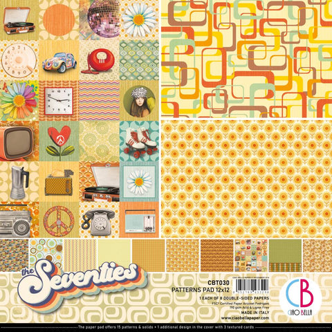 The Seventies 12x12 Patterns Pad