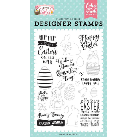I Love Easter Funny Bunny Clear Stamps