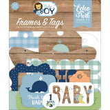 Baby Boy Ephemera: Frames & Tags