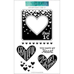 Sew Happy Hearts 4x6 Clear Stamps