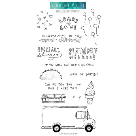 Special Delivery 4x8 Clear Stamps
