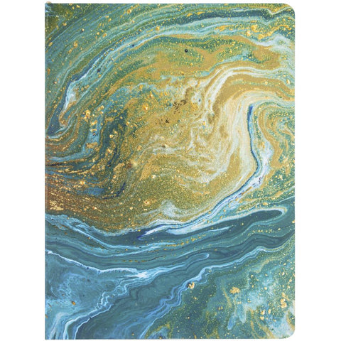 Teal Marble Softcover Journal