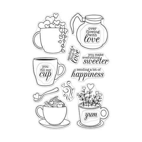 Cup of Love 4x6 Clear Stamps