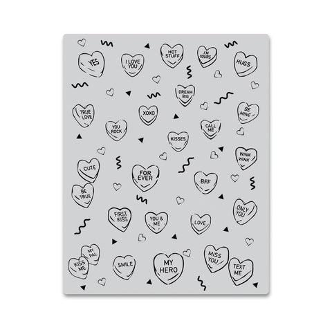 Candy Hearts Peek-A-Boo Cling Stamps