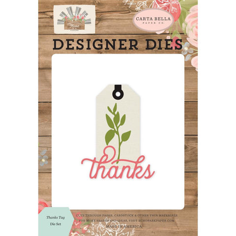Farmhouse Market Thanks Tag Dies