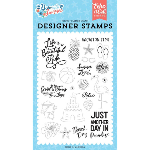 Dive Into Summer 4x6 Clear Stamp Set: Paradise