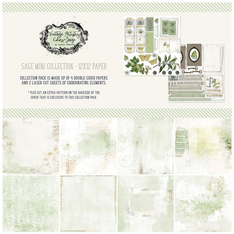Vintage Artistry Sage 12x12 Collection Pack
