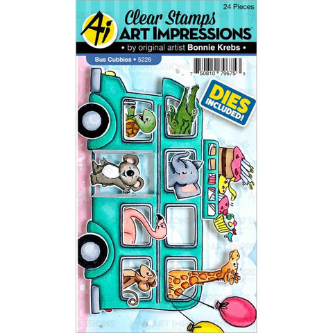 Critter Cubbies Bus Stamp & Die Set