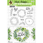 Greenery Invites Clear Stamps