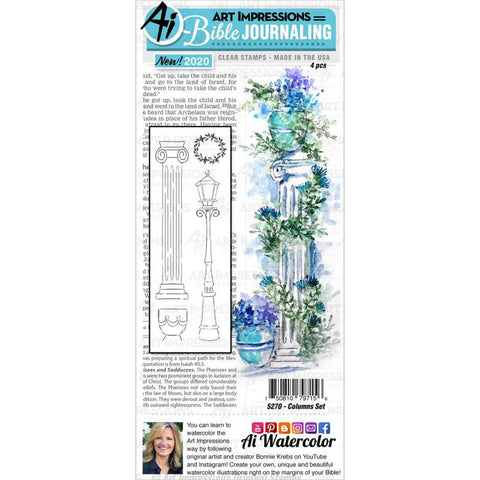 Bible Journaling Columns Clear Stamps
