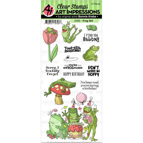 Funny Farm Frog Clear Stamps