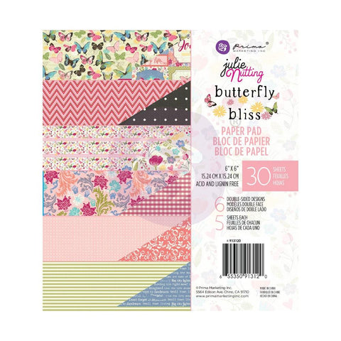 Julie Nutting Butterfly Bliss 6x6 Paper Pad