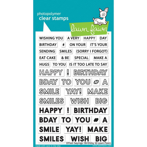 Offset Birthday Sayings 4x6 Clear Stamps
