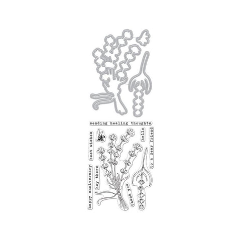 Hero Florals Lavender Bunch 4x6 Clear Stamps
