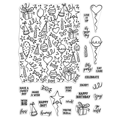 Wish Big Peek-A-Boo Parts 4x6 Clear Stamps