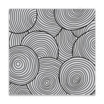 Circle Pattern Bold Prints Cling Stamps