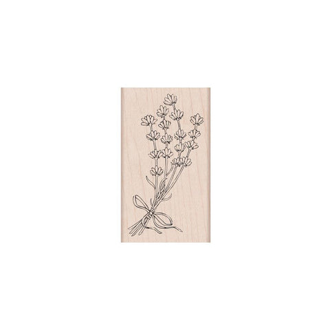 Lavender Bunch Rubber Stamp
