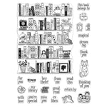 Color Layering Bookcase Peek-A-Boo 6x8 Clear Stamps