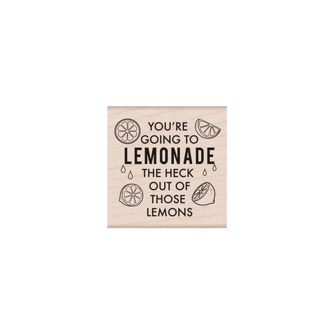 Lemonade Messages Rubber Stamp