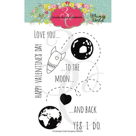 Whimsy World To The Moon 4x6 Clear Stamps