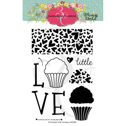 Whimsy World Little Love 4x6 Clear Stamps