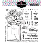 Big & Bold Perfume Bouquet 6x6 Clear Stamps