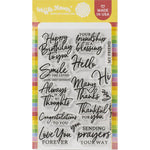 Sweet Sentiments 4x6 Clear Stamps
