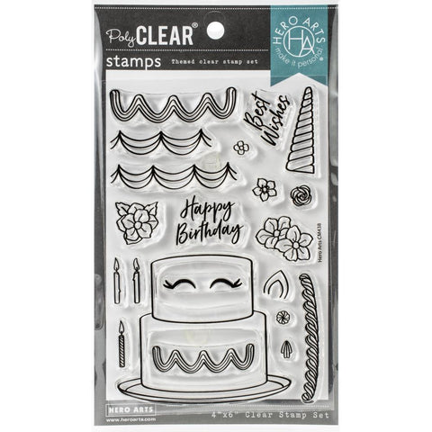 Decorate A Cake 4x6 Clear Stamps