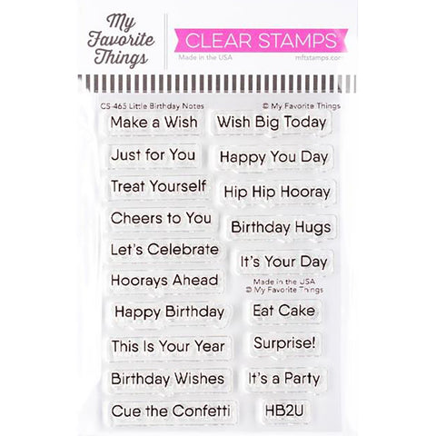 Little Birthday Notes 3x4 Clear Stamps