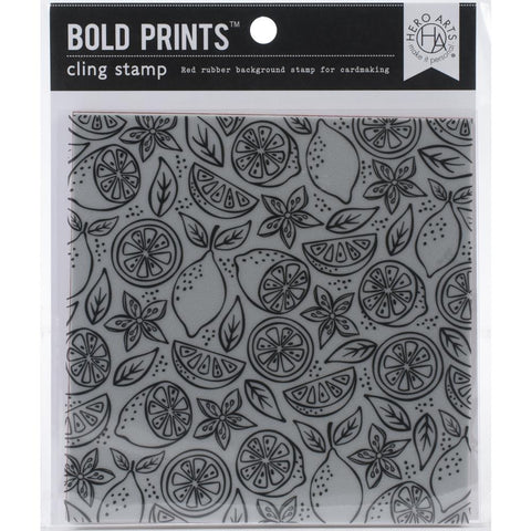 Fresh Citrus Bold Prints Cling Stamps