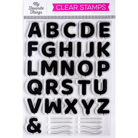 Pumped Up Alphabet 6x8 Clear Stamps