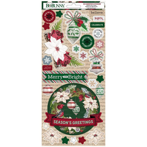 Joyful Christmas Cardstock Stickers