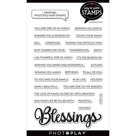 Say It With Stamps Blessings Clear Stamps