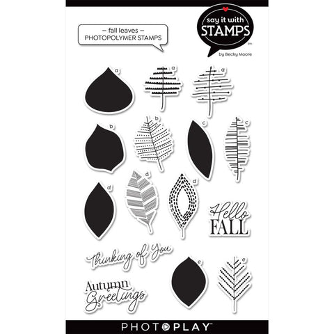 Say It With Stamps Fall Leaves Clear Stamps