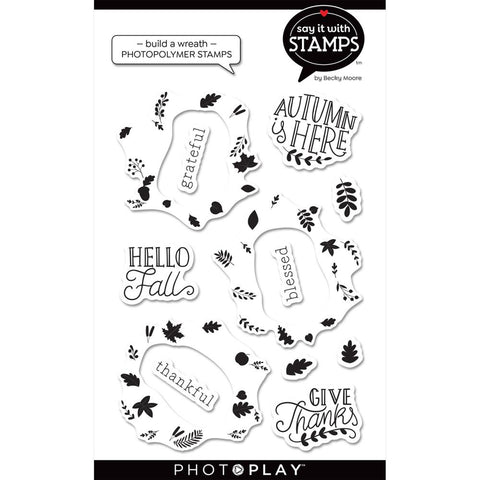 Say It With Stamps Fall Build A Wreath Clear Stamps