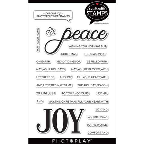 Say It With Stamps Peace/Joy Clear Stamps