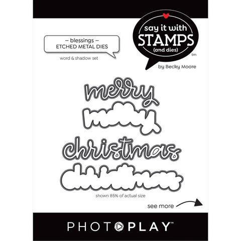 Say It With Stamps Merry/Christmas Die Set