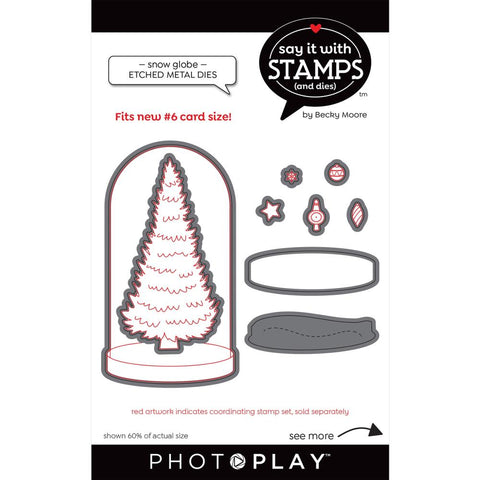Say It With Stamps Snow Globe Die Set