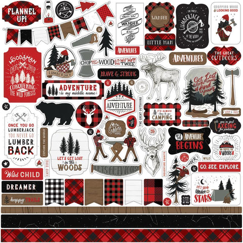 Let's Lumberjack 12x12 Element Sticker