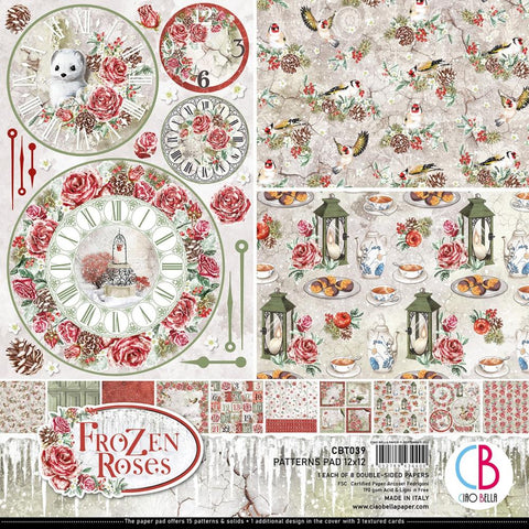 Frozen Roses 12x12 Patterns Pad
