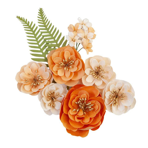 Pumpkin & Spice Together Mulberry Paper Flowers