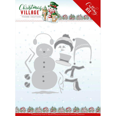 Yvonne Creations Christmas Village Build Up Snowman