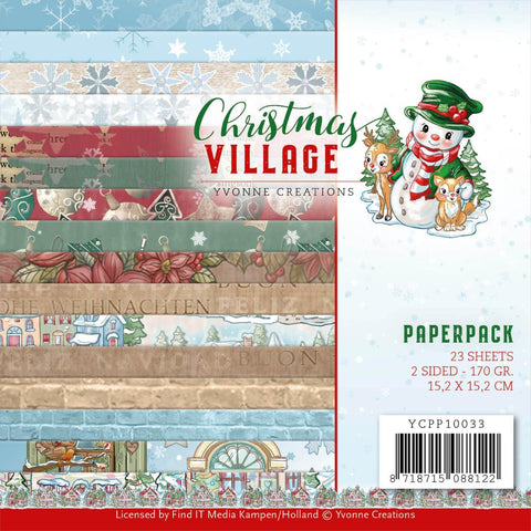 Yvonne Creations Christmas Village 6x6 Paper Pack