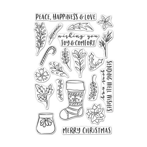 Stocking Bouquet 4x6 Clear Stamps