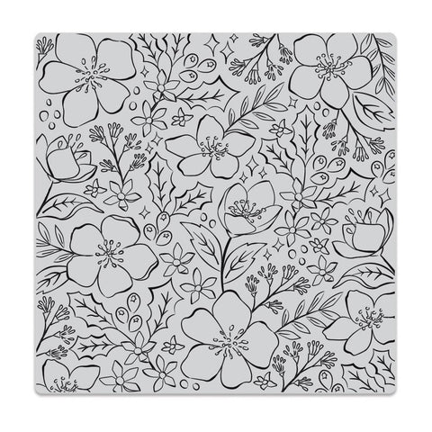 Christmas Rose Bold Prints 6x6 Cling Stamps