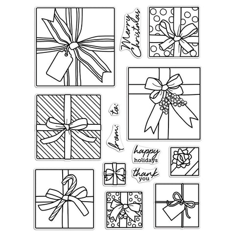 Gift Peek-A-Boo Infinity Parts 6x8 Clear Stamps