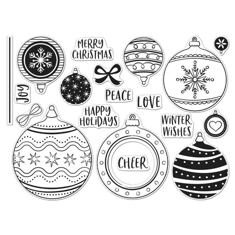 Ornament Peek-A-Boo Infinity Parts 6x8 Clear Stamps