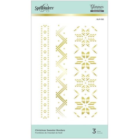 Glimmer Sparkling Christmas Christmas Sweater Borders Hot Foil Plates