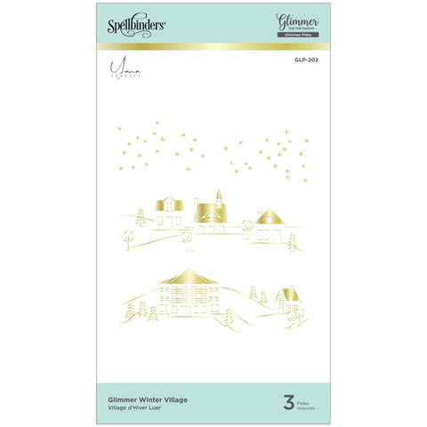 Glimmer Yana's Christmas Winter Village Hot Foil Plates