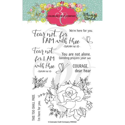 Whimsy World Fear Not Rose 4x6 Clear Stamps